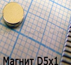 Магнит 5x0,5мм N33 Д