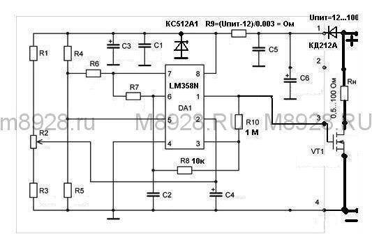 схема мощного регулятора 12 вольт