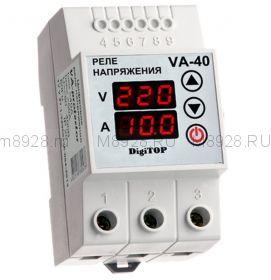 Реле контроля напряжения и индикации тока 40A