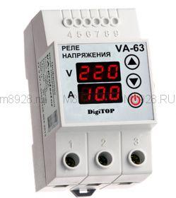 Реле контроля напряжения и индикации тока VA-63